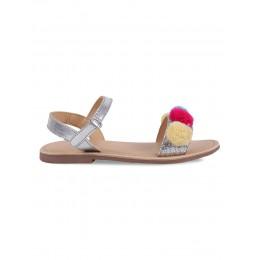 Lava Silver Embellished Sandals