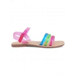 Raindrop Multi-Color Solid Sandals