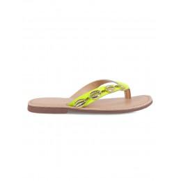 Seashell-2 Yellow Embellished Flats