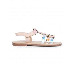 Shine Pink Solid Sandals