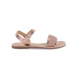 Stardust Rose Gold Embellished Sandals