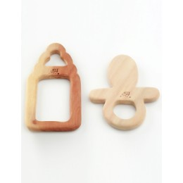 Wooden Teethers - Cheese and Ice-cream Stick