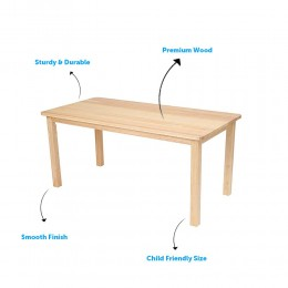 Wooden Rectangle Table
