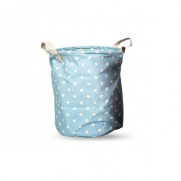 Utility Basket - Cotton Jute Canvas Blend - Sky Blue