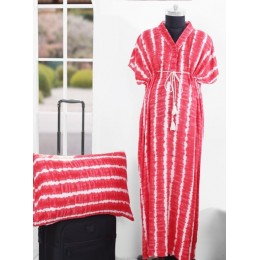 Strawberry Breeze Kaftan - Free Size