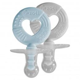 ZoLi Binki.T Pacifier + Teether Combination Circle Mist blue/Ash