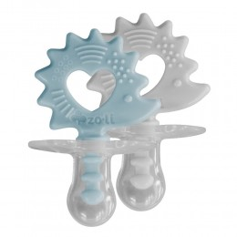 ZoLi Binki.T Pacifier + Teether Combination Hedgehog Mist blue/Ash