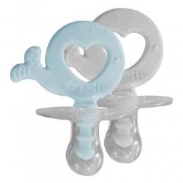 ZoLi Binki.T Pacifier + Teether Combination Whale Mist blue/Ash