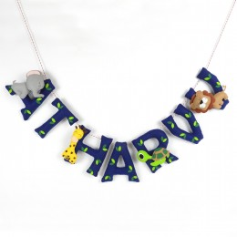 Personalized Animal Name Bunting - Blue | Price Per Alphabet