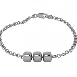 Sterling Silver Bracelet BRO with Plain Dice Cubes