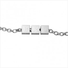 Sterling Silver Bracelet BRO with Plain Square Cubes