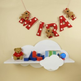 Personalized Teddy and Star Bunting  |Price Per Alphabet