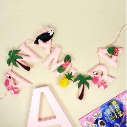Personalized Tropical Name Bunting | Price Per Alphabet