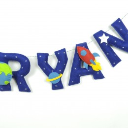 Personalized Space Name Bunting | Price Per Alphabet