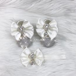 Cinderella Shoes & Headband - Off White