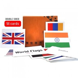 World Flags Flash Cards 56 Numbers - Set 1