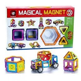 Magical Magnetic Building Blocks - 40 pcs