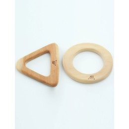 Wooden Teethers - Circle and Triangle