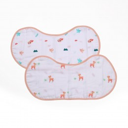 Crawling Cuties Reversible Organic Burp Cloth Bibs - 2 pack