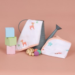 Crawling Cuties Reversible Organic Wash Cloth - 2 pack
