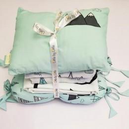 Cot Bedding Set with Rai Pillow -  Far Away