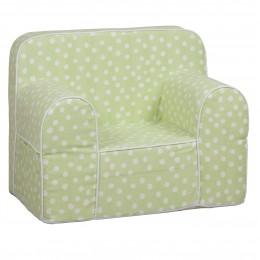 Kids Sofa  - Green Base White Dot