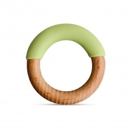 Little Rawr Wood + Silicone Simple Ring -Green