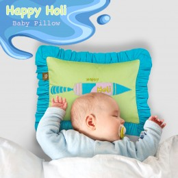 Happy Holi Baby Pillow