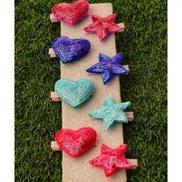 Heart Star Clip - Set of 8
