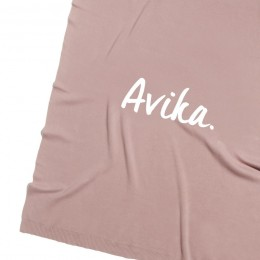 Rose Bloom Personalized Organic Cotton Knitted Blanket