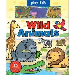Soft Felt Play Books: Wild Animals