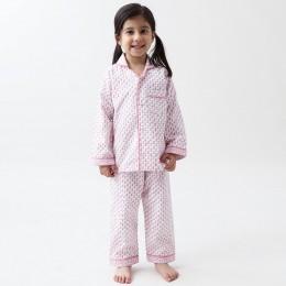 Jade Blockprint Pajama Set (Pink)