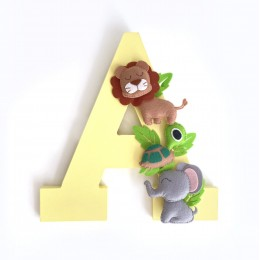 Jungle Themed Personalised Alphabet