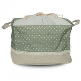 Utility Basket - Cotton Jute Canvas Blend - Green