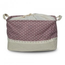 Utility Basket - Cotton Jute Canvas Blend - Purple