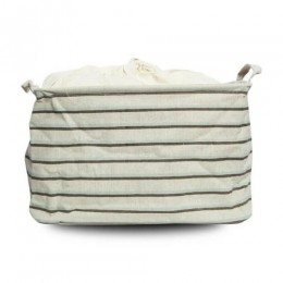 Utility Basket - Cotton Jute Canvas Blend - Stripes