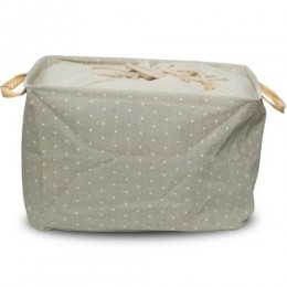 Utility Basket - Cotton Jute Canvas Blend - Grey