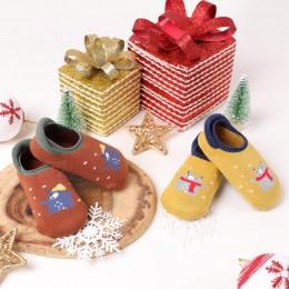 Christmas Bear Socks - Yellow And Orange