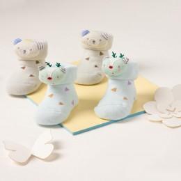 Teddy And Reindeer 3D Socks - 2 pack