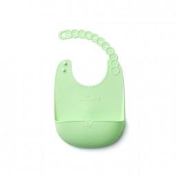 Miniware Roll and Lock Silicone Bib - Key Lime