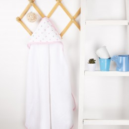 Baby Stars Muslin Hooded Towel