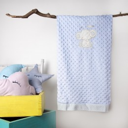 Blue Baby Elephant Double Sided Blankets