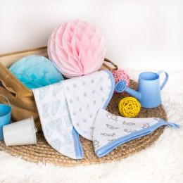 Blue Lions Muslin Wash Cloth - 3 pack