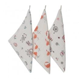 Cute Animals Wash Cloth - 3 pack