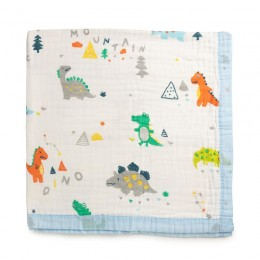 Dino-Land Quilted Muslin Blanket
