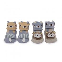 Mushroom And Bears 3D Socks - 2 Pack