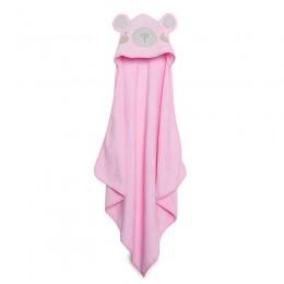 Pink Bear Hooded Towel