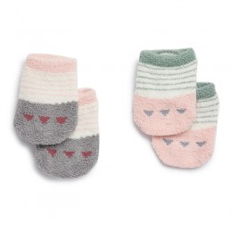 Pink & Grey Cute Anti-Skid Socks - 2 pack