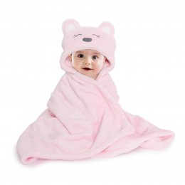 Pink Hooded Fur Blanket