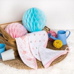 Pink Kitty Muslin Wash Cloth - 3 Pack